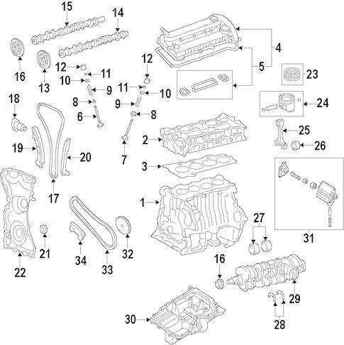 1S7Z6306DA Timing Gear for 2012 Ford Escape : Ford Parts