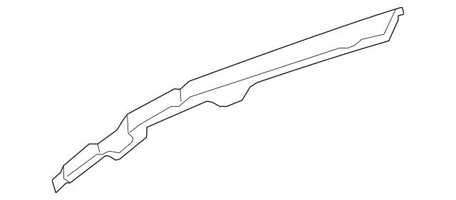 Original Rail, L Roof Side for 2007-2009 Acura MDX 5-DOOR