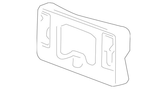 2010-2013 Acura MDX 5-DOOR Base, Front License Plate 71180