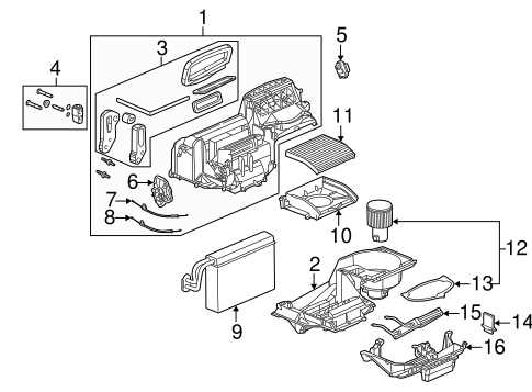 Evaporator & Heater Components for 2003 Saturn Ion