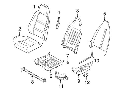 SEAT COMPONENTS for 1998 BMW Z3