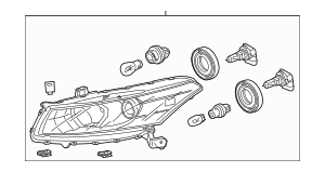 2008-2010 Honda ACCORD COUPE Headlight Assembly, L 33150