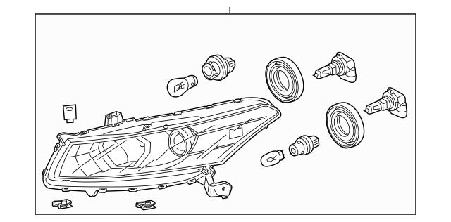 2011-2012 Honda ACCORD COUPE Headlight Assembly, R 33100