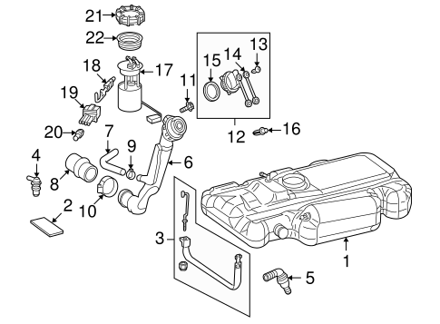 Fuel System Components for 2003 Dodge Sprinter 2500