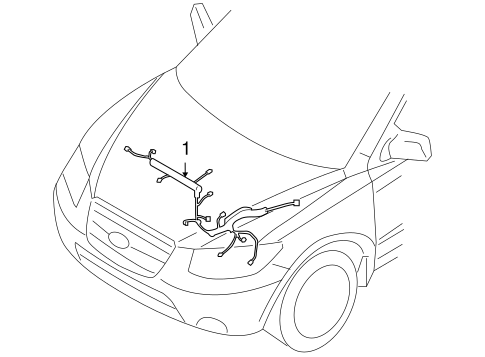 Wiring Harness for 2010 Hyundai Santa Fe