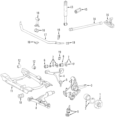 FRONT SUSPENSION for 1999 Mercedes-Benz ML430