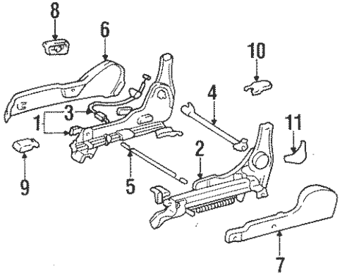 Genuine OEM Tracks & Components Parts for 1996 Toyota