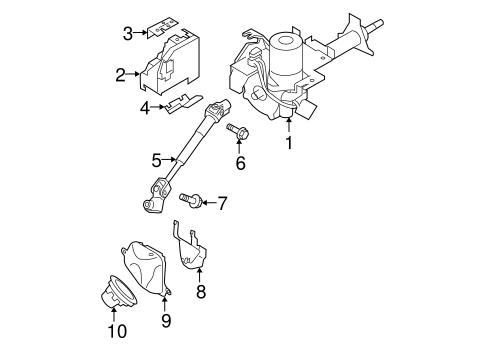 Steering Column Assembly for 2014 Nissan Rogue Select