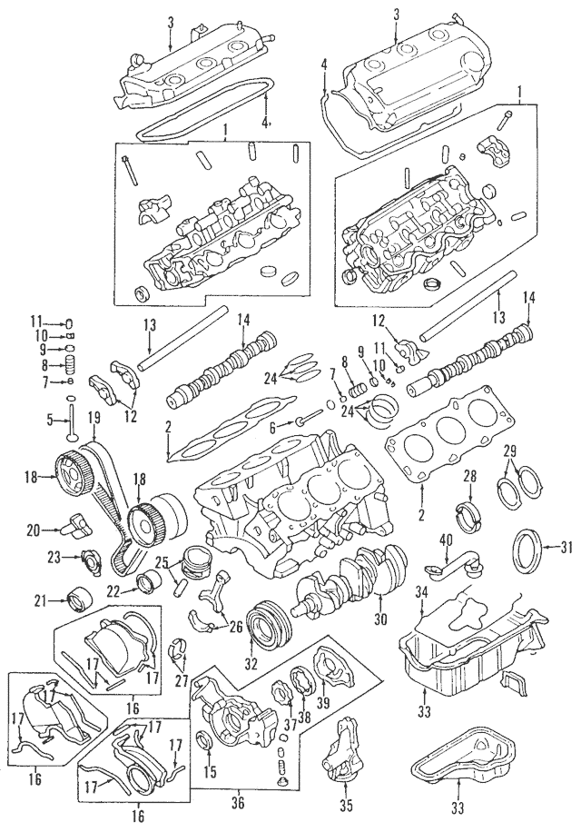 Genuine OEM Valve Cover Part# MD360145 Fits 1999-2003