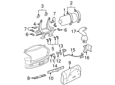 OEM FUEL SYSTEM COMPONENTS for 2004 Chevrolet Cavalier