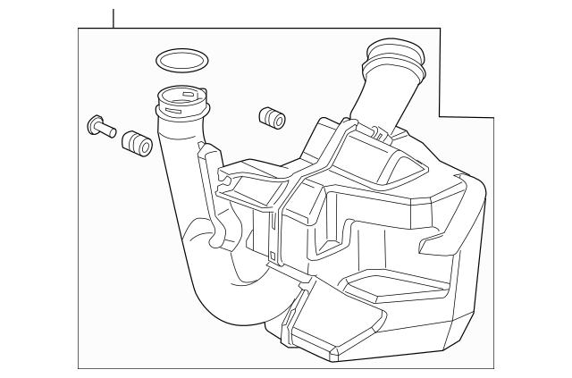 2006-2007 Honda Chamber Assembly, Resonator 17230-RAA-A10