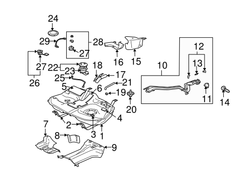 FUEL SYSTEM COMPONENTS for 2004 Mitsubishi Endeavor