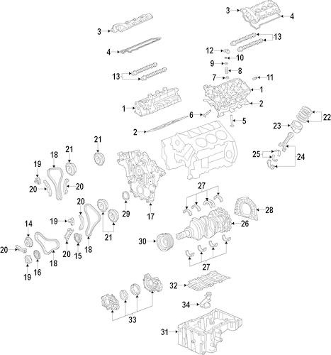 ENGINE Parts for 2007 Pontiac G6