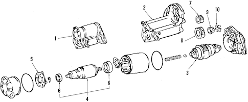 Genuine OEM STARTER Parts for 1998 Toyota Tacoma Base