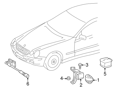 Anti-Theft Components for 2003 Mercedes-Benz CL 55 AMG