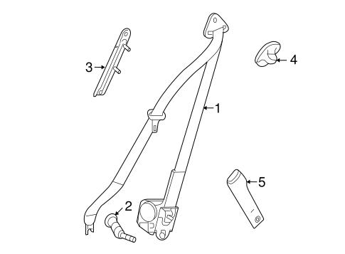 OEM 2009 Pontiac Torrent Front Seat Belts Parts