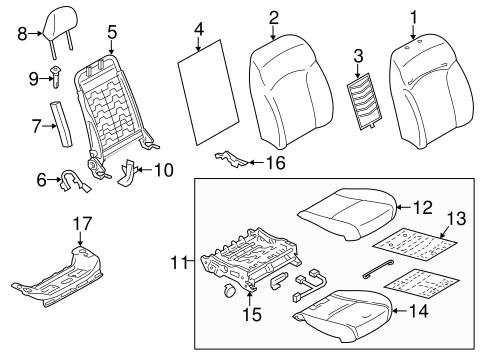 Front Seat Components for 2014 Subaru XV Crosstrek