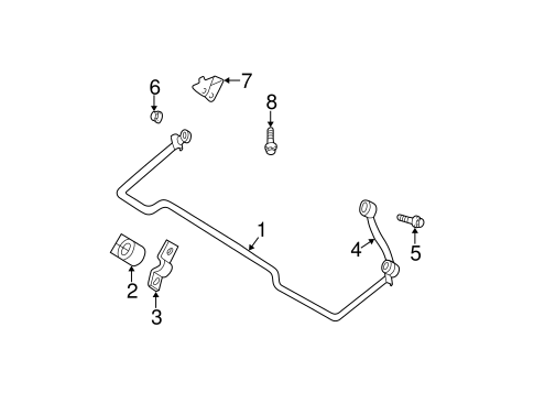 Stabilizer Bar & Components for 2003 Jeep Grand Cherokee