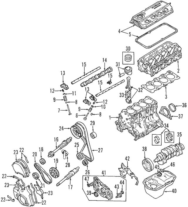 Mitsubishi Outlander 2003 Engine Diagram : 2003 Mitsubishi