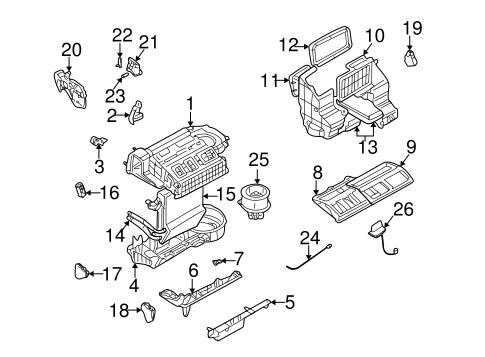 Evaporator & Heater Components for 2001 Pontiac Montana