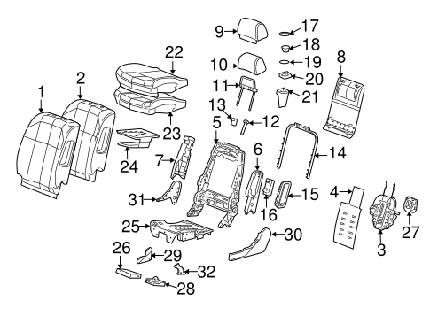 Front Seat Components for 2008 Cadillac STS
