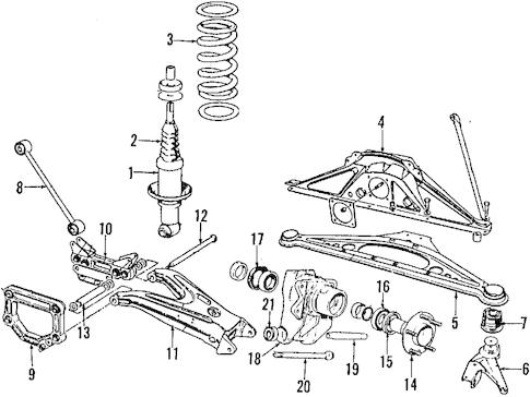 Rear Suspension for 1996 Jaguar XJ6