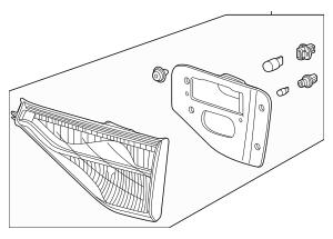 2011-2013 Honda ODYSSEY 5-DOOR Light Assembly, L Lid 34155