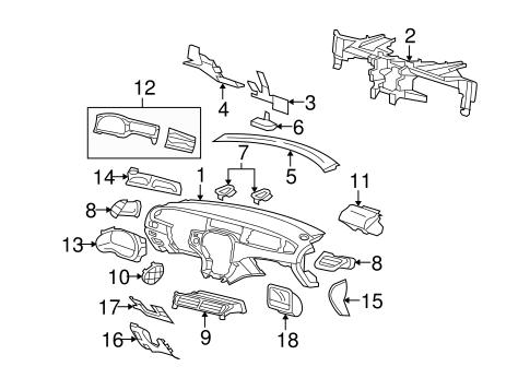 Instrument Panel Components for 2003 Jaguar S-Type