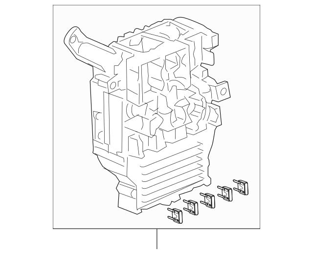 2003-2005 Honda ACCORD COUPE Box Assembly, Fuse 38200-SDN