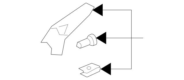 2005-2012 Acura RL SEDAN Leg Kit C, R Headlight Mounting