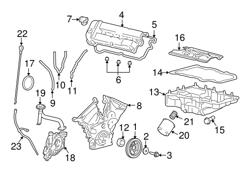 ENGINE PARTS for 2009 Mercury Mariner