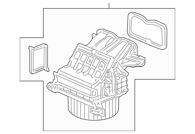 2008-2011 Honda CR-V 5-DOOR Blower Sub-Assembly 79305-SWA