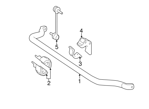 Stabilizer Bar & Components for 2007 Mercedes-Benz R 320