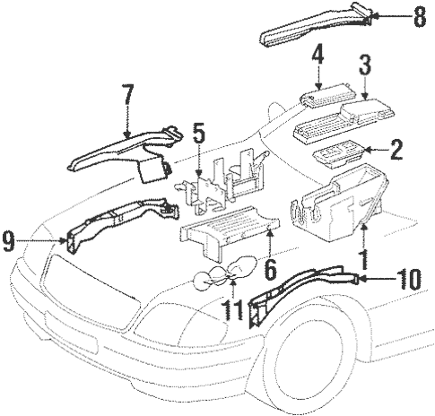 Electrical Components for 1995 Mercedes-Benz SL 320