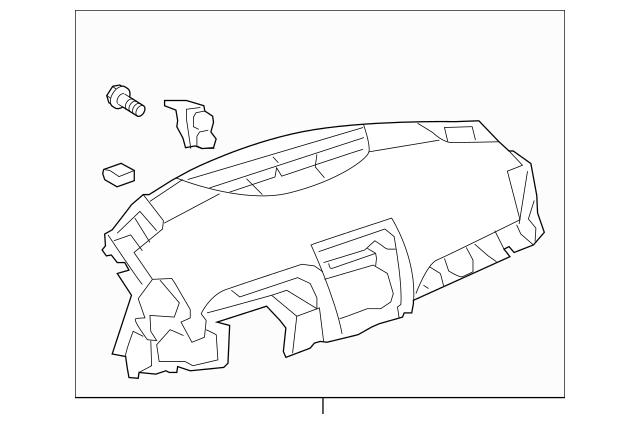 2007-2011 Toyota Camry Instrument Panel 55401-06091-B1