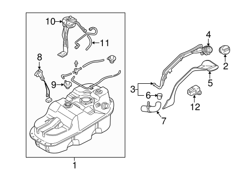 FUEL SYSTEM COMPONENTS for 1999 Mitsubishi Montero Sport