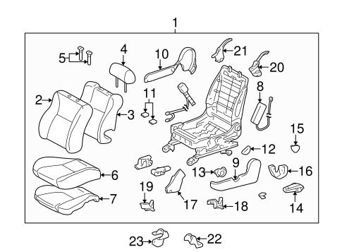 Genuine OEM Front Seat Components Parts for 2006 Toyota