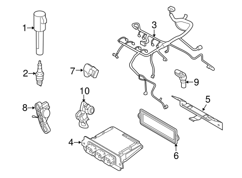 IGNITION SYSTEM for 2010 Mercury Mariner
