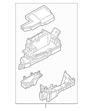 2016-2019 Mazda Fuse & Relay Box TK48-66-760