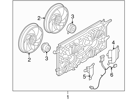 COOLING FAN for 2005 Buick Terraza