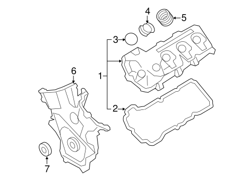 Valve & Timing Covers for 2015 Ford Edge
