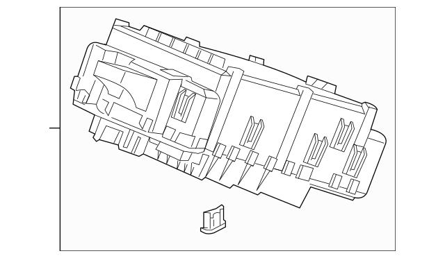 2017 Honda RIDGELINE SEDAN Box Assembly, Fuse 38200-T6Z