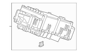 Genuine 2017 Honda RIDGELINE SEDAN Box Assembly, Fuse