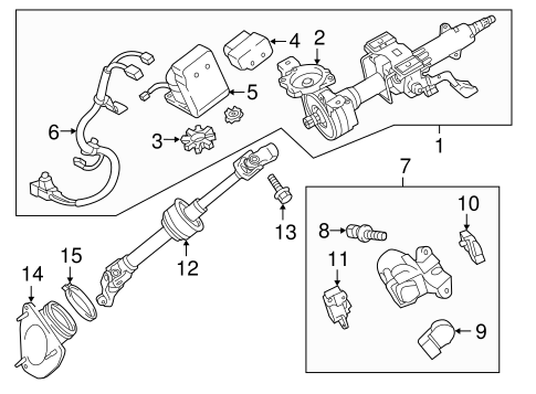Genuine OEM Steering Column Assembly Parts for 2013 Toyota