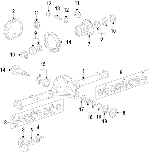 DIFFERENTIAL for 2010 Ford F-150