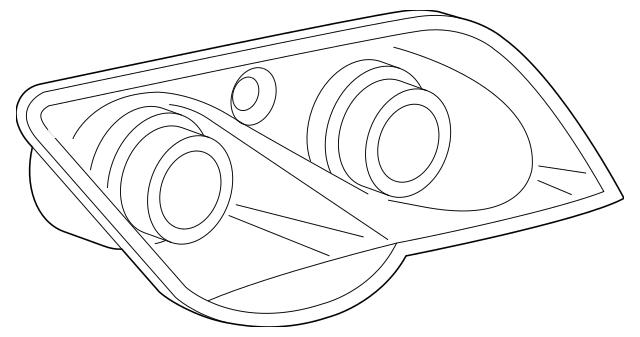 2004-2008 Chrysler Crossfire Headlamp Assembly 68024633AA