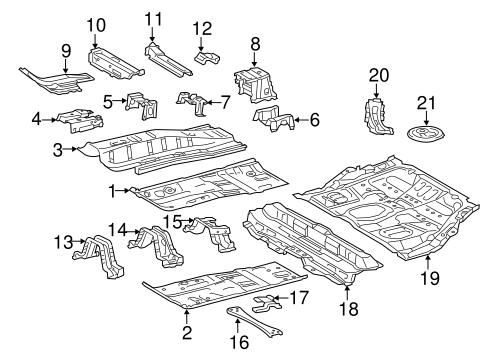 FLOOR & RAILS for 2015 Toyota Prius V