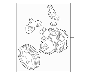 2017-2019 Nissan Armada Power Steering Pump 49110-1LA0B