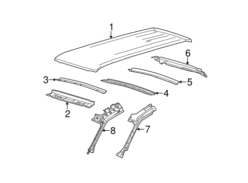 ROOF & COMPONENTS for 2010 Ford Flex