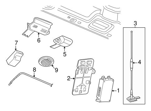 Navigation System Components Parts for 2004 Saturn Vue